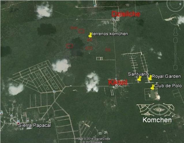 Mapa Komchen